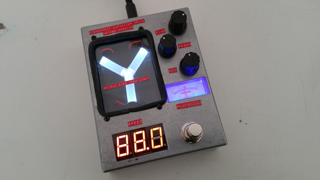 the flux capacitor delay pedal 4114 custom guitar effects. Black Bedroom Furniture Sets. Home Design Ideas
